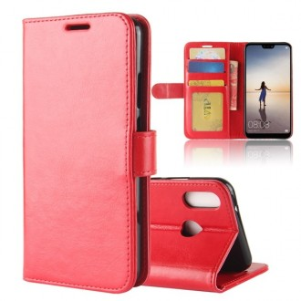 Etui Huawei P20 Lite Portefeuille Rouge - Crazy Kase