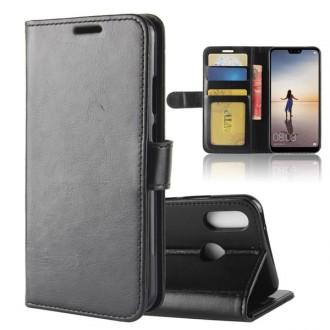 Etui Huawei P20 Lite Portefeuille Noir - Crazy Kase