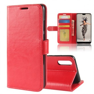Etui Huawei P20 Portefeuille Rouge - Crazy Kase