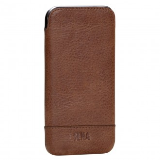 Housse iPhone 6 / 6s en cuir véritable marron - Sena Cases