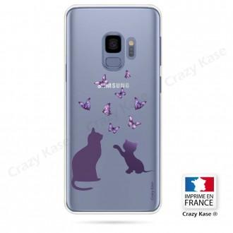 Coque Galaxy S9 souple Chaton jouant avec papillon - Crazy Kase
