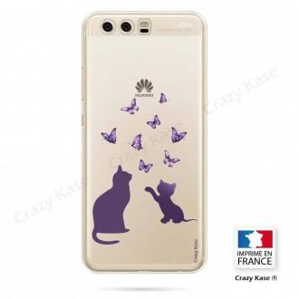 Coque Huawei P10 souple Chaton jouant avec papillon - Crazy Kase