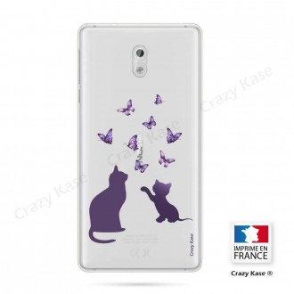 Coque Nokia 3 souple Chaton jouant avec papillon - Crazy Kase