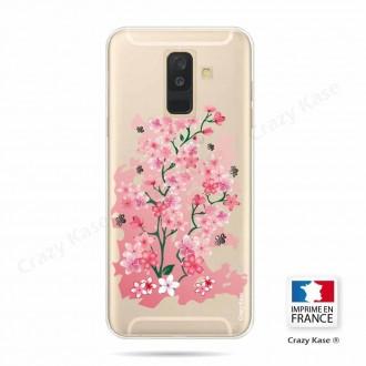 Coque Galaxy A6+ (2018) souple motif Fleurs de Cerisier - Crazy Kase