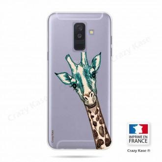 Coque Galaxy A6+ (2018) souple motif Tête de Girafe - Crazy Kase