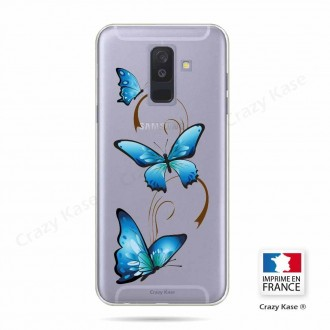 Coque Galaxy A6+ (2018) souple motif Papillon sur arabesque - Crazy Kase
