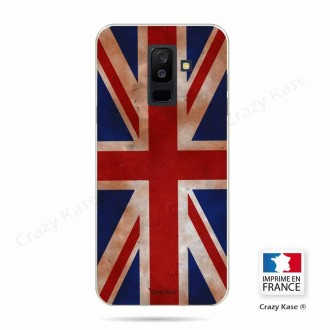 Coque Galaxy A6+ (2018) souple motif Drapeau UK vintage - Crazy Kase