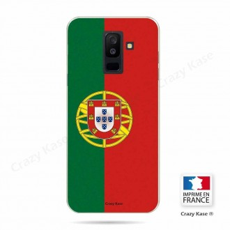 Coque Galaxy A6+ (2018) souple motif Drapeau Portugais - Crazy Kase