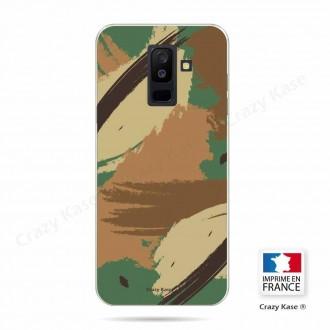 Coque Galaxy A6+ (2018) souple motif Camouflage - Crazy Kase