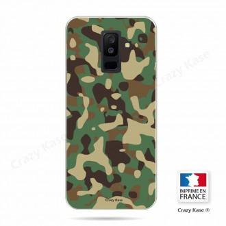 Coque Galaxy A6+ (2018) souple motif Camouflage militaire - Crazy Kase