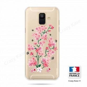 Coque Galaxy A6 (2018) souple motif Fleurs de Sakura - Crazy Kase