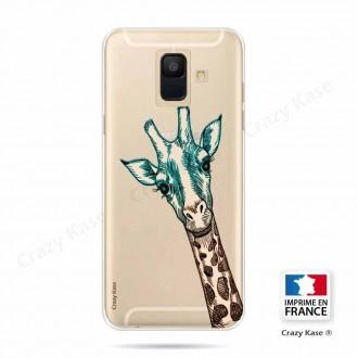 Coque Galaxy A6 (2018) souple motif Tête de Girafe - Crazy Kase