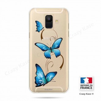 Coque Galaxy A6 (2018) souple motif Papillon sur arabesque - Crazy Kase