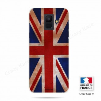 Coque Galaxy A6 (2018) souple motif Drapeau UK vintage - Crazy Kase