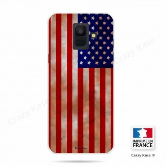 Coque Galaxy A6 (2018) souple motif Drapeau USA - Crazy Kase