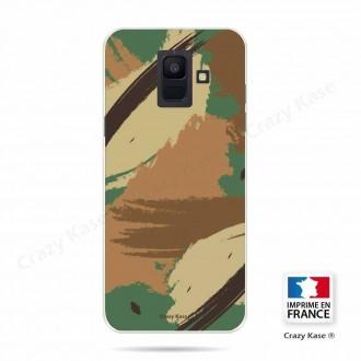Coque Galaxy A6 (2018) souple motif Camouflage - Crazy Kase