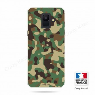 Coque Galaxy A6 (2018) souple motif Camouflage militaire - Crazy Kase