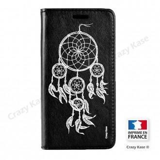 Etui Galaxy S7 Edge noir motif Attrape rêves blanc - Crazy Kase