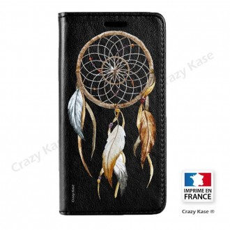 Etui Galaxy S7 noir motif Attrape Rêves Nature - Crazy Kase