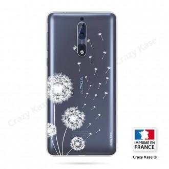 Coque Nokia 8 souple Fleurs de pissenlit - Crazy Kase
