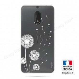 Coque Nokia 6 souple Fleurs de pissenlit - Crazy Kase