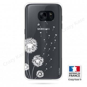 Coque Galaxy S7 Edge souple Fleurs de pissenlit - Crazy Kase