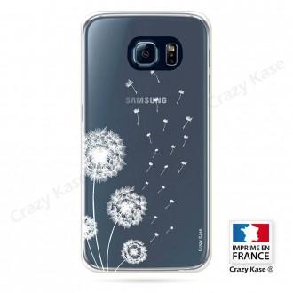 Coque Galaxy S6 Edge souple Fleurs de pissenlit - Crazy Kase