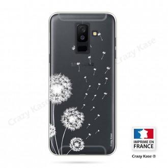 Coque Galaxy A6 Plus (2018) souple Fleurs de pissenlit - Crazy Kase