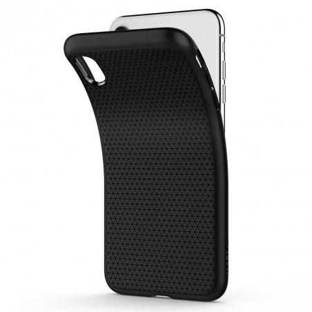 Coque iPhone Xr Noire Mat  - Spigen