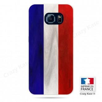 Coque Galaxy S6 Edge souple Drapeau Français Vintage- Crazy Kase