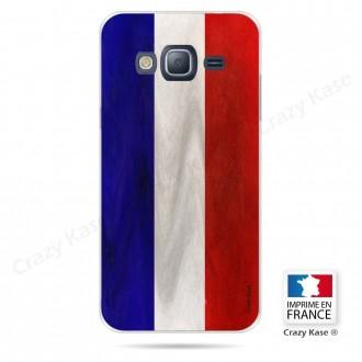 Coque Galaxy Core Prime souple Drapeau Français Vintage- Crazy Kase