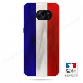 Coque Galaxy S7 Edge souple Drapeau Français Vintage- Crazy Kase