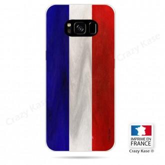 Coque Galaxy S8 souple Drapeau Français Vintage- Crazy Kase
