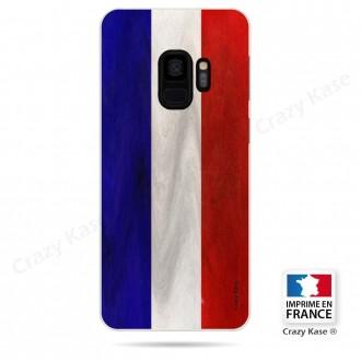 Coque Galaxy S9 souple Drapeau Français Vintage- Crazy Kase
