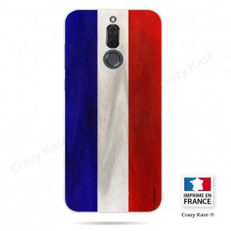 Coque Huawei Mate 10 Lite souple Drapeau Français Vintage- Crazy Kase