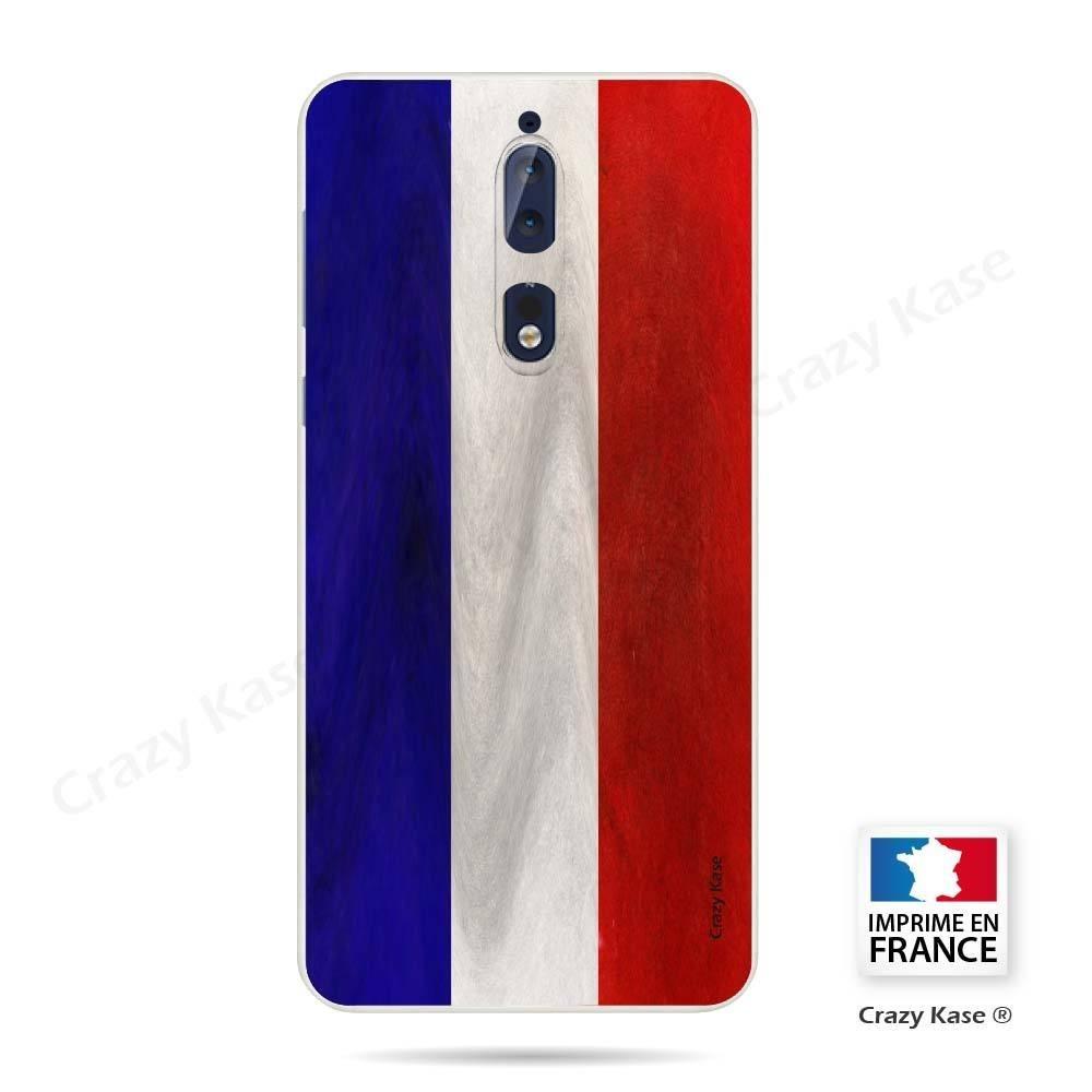 Coque Nokia 8 souple Drapeau Français Vintage- Crazy Kase