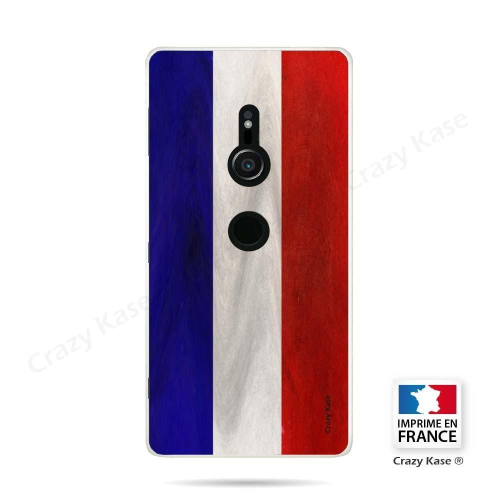 Coque Sony Xperia XZ2 souple Drapeau Français Vintage- Crazy Kase