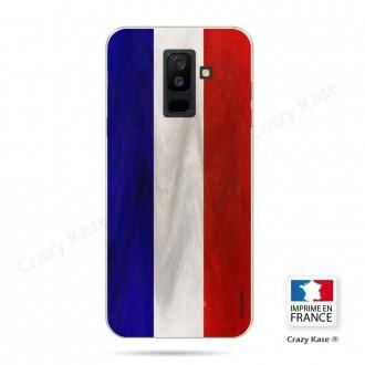 Coque Galaxy A6 Plus 2018 souple Drapeau Français Vintage- Crazy Kase