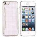 Coque plastique blanche contour argenté pour iPhone 5