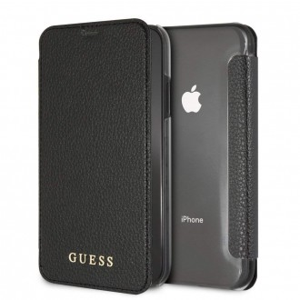 Etui iPhone Xr Noir avec Coque Transparente - Guess