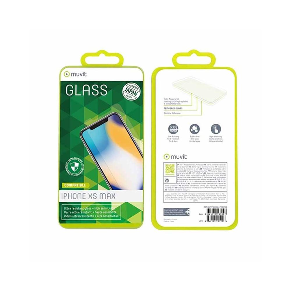 Film iPhone Xs Max protection écran verre trempé - Muvit