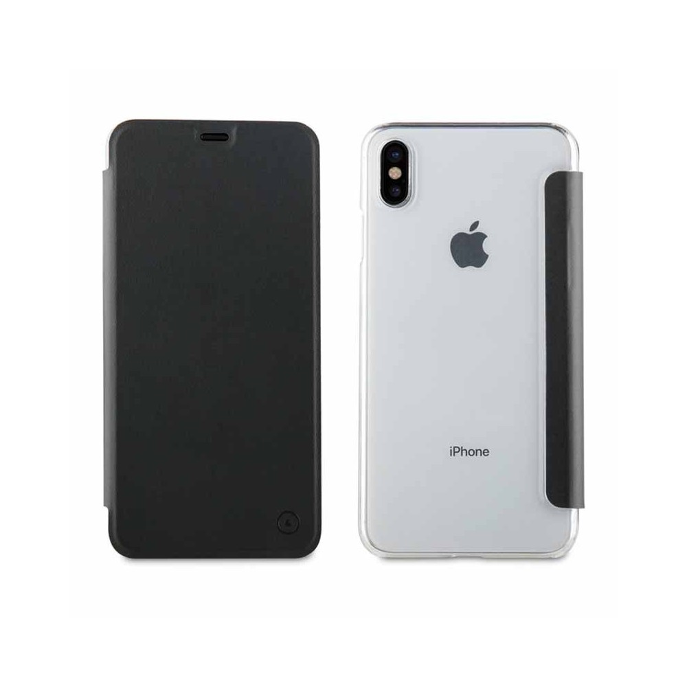 Etui iPhone Xs Max Folio Noir - Muvit