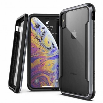 Coque iPhone Xs Max Defense Shield Noire - Xdoria