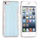 Coque plastique bleue contour argenté pour iPhone 5