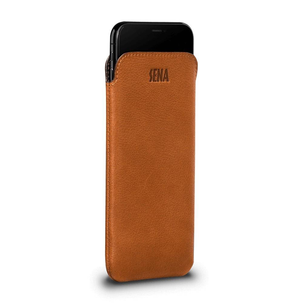 Housse iPhone 8 Plus / 7 Plus en cuir véritable marron - Sena Cases