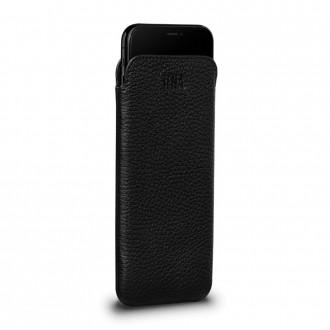 Housse iPhone 8 Plus / 7 Plus en cuir véritable noir - Sena Cases