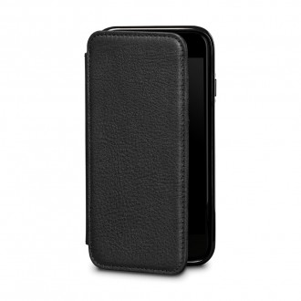 Etui iPhone 8 / iPhone 7 en cuir véritable porte-cartes noir - Sena Cases