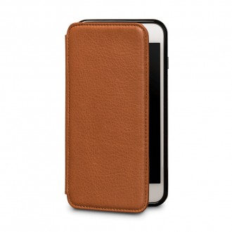 Etui iPhone 8 Plus / iPhone 7 Plus en cuir véritable porte-cartes marron - Sena Cases