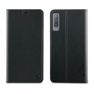 Etui Galaxy A7 (2018) porte-cartes Noir - Muvit