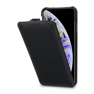 Etui iPhone Xs Max ultraslim noir nappa en cuir véritable - Stilgut